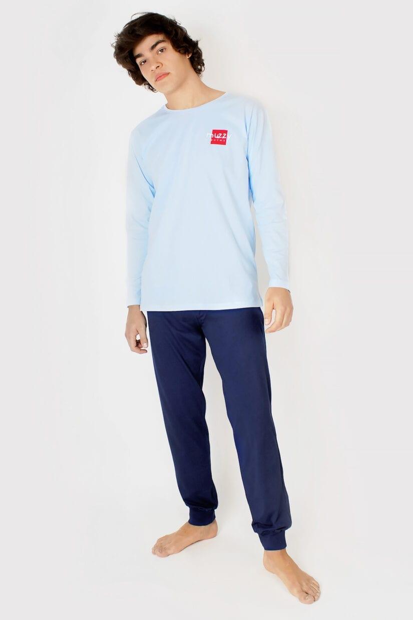 Piżama męska Muzzy niebieska