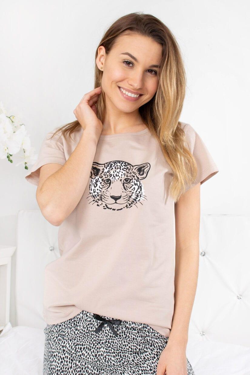 Piżama cętkowana GEPARD bawełniana z szortami