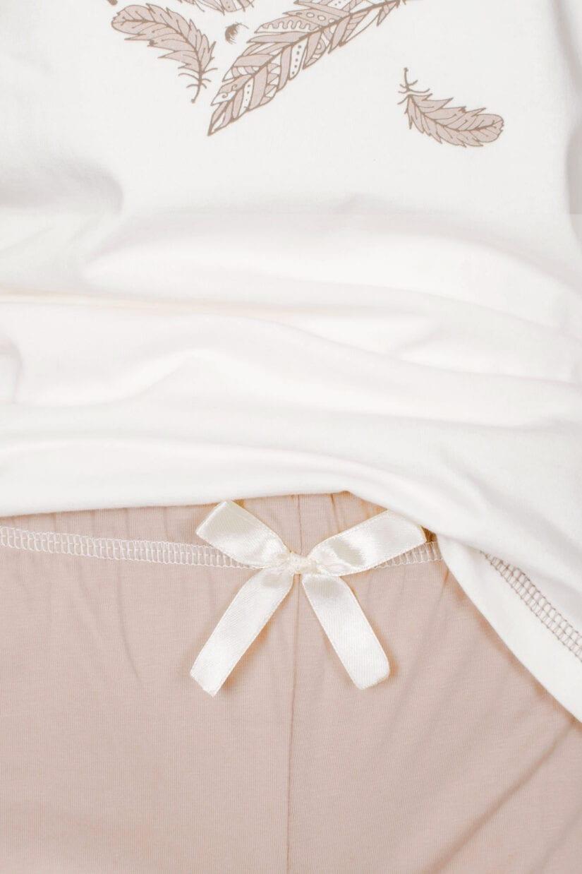 Piżama damska SERCE z PIÓR krótki rękaw