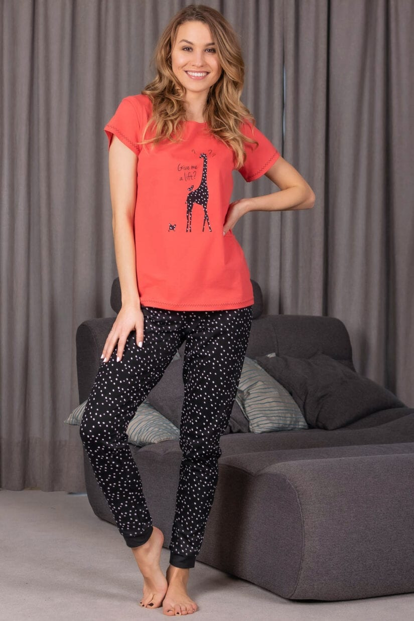 Piżama damska GIVE ME A LIFT koszulka spodnie