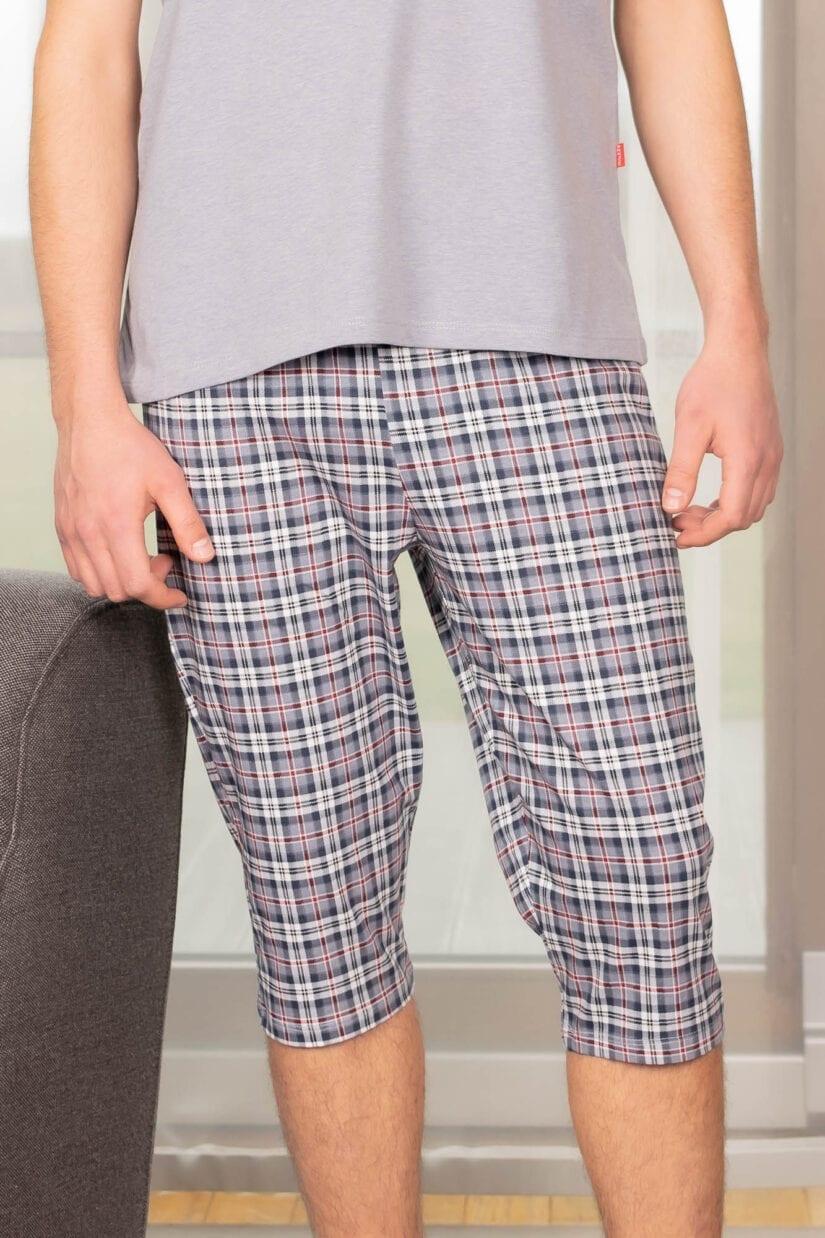 Piżama męska SKATER spodnie 3/4 krótki rękaw