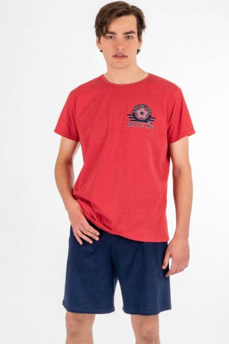 Piżama męska PILOT OF LIFE szorty koszulka