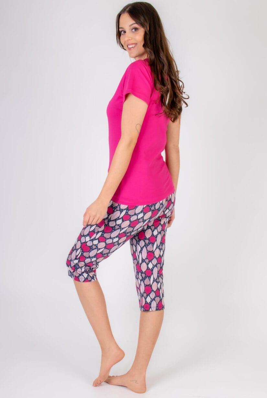 Bawełniana piżama damska SÓWKI tył