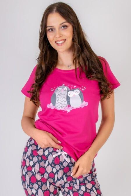 Bawełniana piżama damska SÓWKI