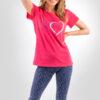 piżama damska DWA SERCA koszulka rybaczki