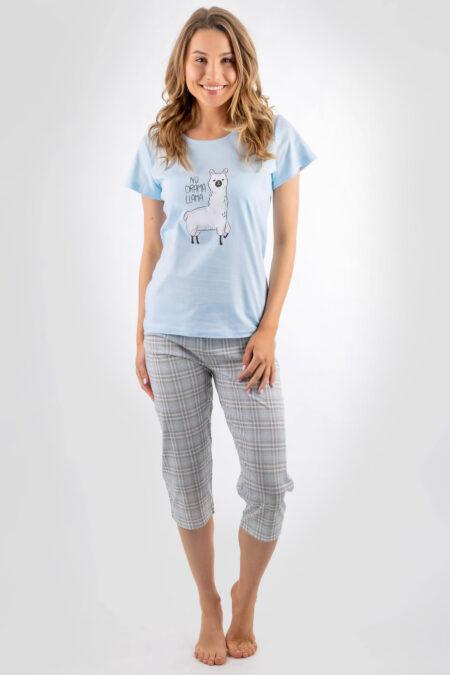 piżama damska no drama llama spodnie 3/4