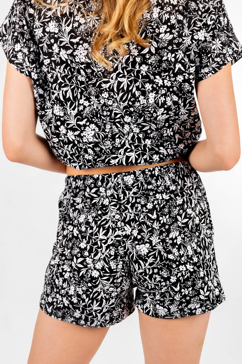 Piżama damska z koronką szorty