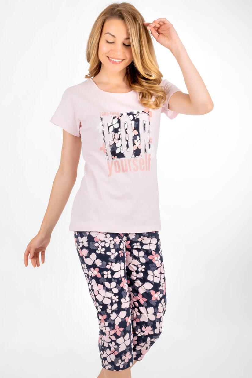Piżama damska FOR spodnie za kolano