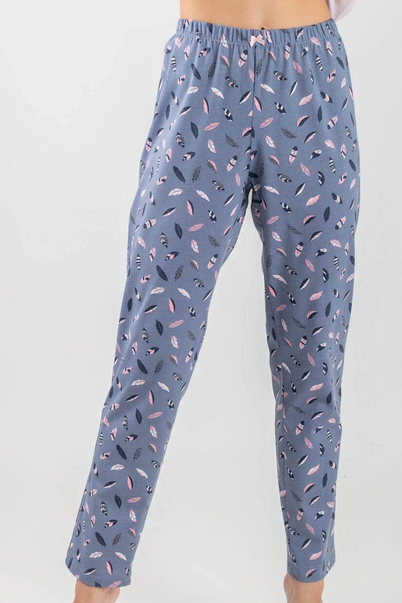 Piżama damska SOWA długi rękaw spodnie